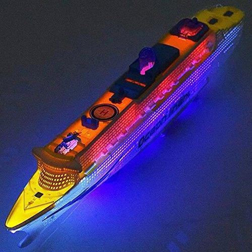 ACHICOO Baby-elektrisches Navigations-Modell-großes Kreuzschiff-Säuglingskleinkind-Blitz-Musik-Universalrad-Boots-Spielzeug Kind Geschenk