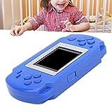 SHYEKYO Consola de Juegos, Consola de Juegos portátil educativa para niños de 1,8 Pulgadas con Pantalla a Color de protección Ocular para niños para Trenes para Acampar(Blue)