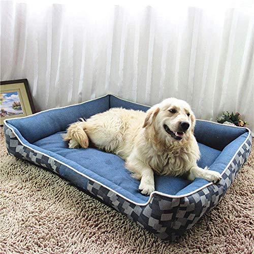 YLCJ Kattenbed voor katten, matras voor kinderen, warm, comfortabel, comfortabel, afneembaar, kussen voor huisdieren, waterdicht, vochtbestendig, S, XL
