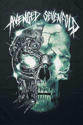 Avenged Sevenfold Mechanical Skull Flagge Mehrfarbig