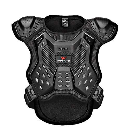 jinclonder Offroad-Kinderpanzeranzug Rollschuh Rollschuhrolle Rückenschutz Brustschutz Wirbelsäulenschutzweste Nachtsportschutzausrüstung Bequem glatt