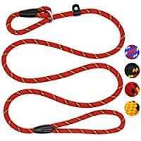 ★ Perfect Size: Dog slip lead approx 150 cm(Length) * 1 cm(Diameter). Perfect length to achieve a balance between freedom and control, give your dog enough freedom. ★ Soft & Durable Lead Leash: Dog lead rope is made from high-quality nylon materials ...