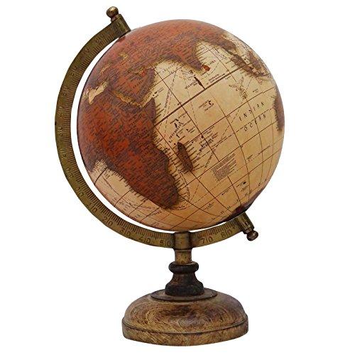 "Dekorative Rotating Brown Ozean Globe Geografie-Welttischdekoration Erde 13\"""