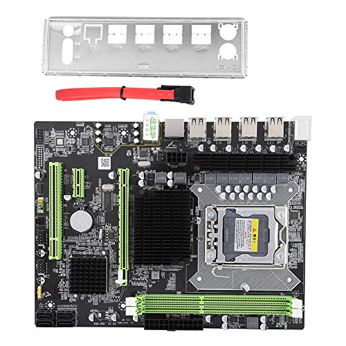 Diyeeni X58 Pro Desktop-Motherboard mit LGA 1366-Sockel, 12 Ports SATA-Motherboard für RTL8111 Gigabit-NIC, Ersatz-Motherboard für E5502 L5506 W3503 EC3539 LC3528, Unterstützung der Xeon-Serie