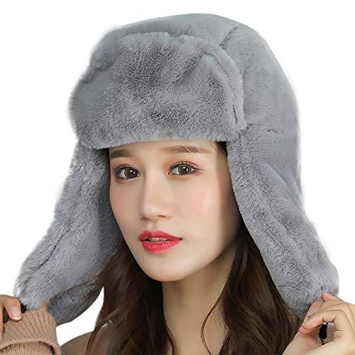 Qlans Chapeau de Chapeau d'hiver de Femmes, Chapeau de Protecteur d'oreille féminine Lei Feng Hat Chapeau de Ski Chaud