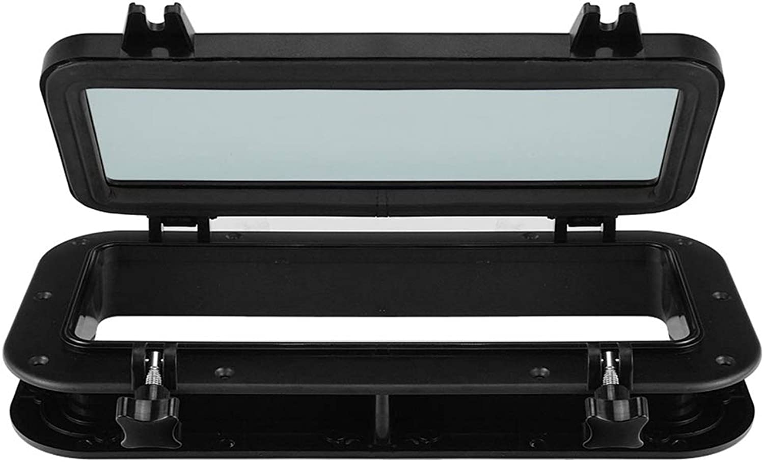 Ller76 Skylight Cover ABS Yacht Car Easy to Install Replacement Porthole Black Sturdy Window Parts AntiAging Boat Ship Durable Rectangular Rubber Seal Waterproof(Black)