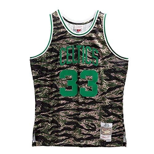 Mitchell & Ness NBA Tiger Camo Swingman Jersey B. Celtics - Camiseta de manga corta, diseño de camuflaje multicolor XL