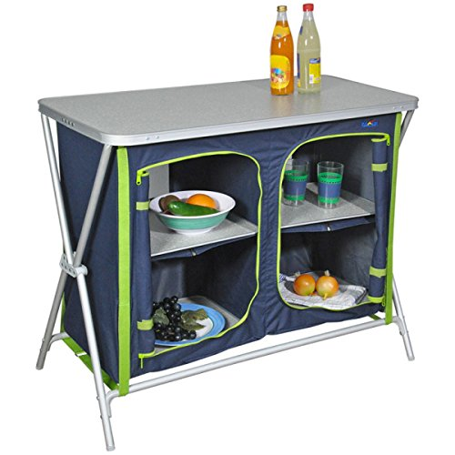 Bel Sol Faltschrank Vorratsschrank Schrank Küche KOMPAKT Fb Blau-Grün