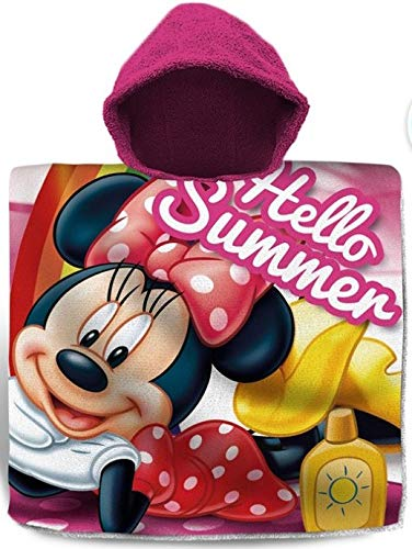 for-collectors-only Minnie Mouse Poncho Hello Summer Kapuzenponcho Handtuch Badetuch Strandtuch Disney Kids Beach Hooded Towel