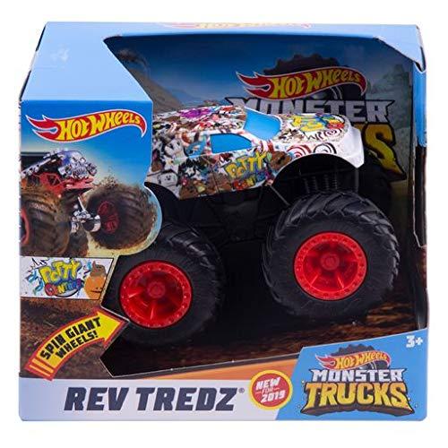 Mattel Hot Wheels GBV15 Monster Trucks Rev Tredz Potty Central - Coche de juguete para niños y coleccionistas