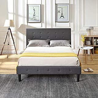 Classic Brands Cambridge Upholstered Platform Bed | Headboard and Metal Frame with Wood Slat Support, Full, Grey (B077P2HHYW) | Amazon price tracker / tracking, Amazon price history charts, Amazon price watches, Amazon price drop alerts