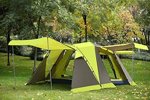 XBR Mini-Kinderzelt, Tunnelzelt, Zelt für 3-4 Personen, 215 * 215 * 165 cm, blau, grün, grün (Farbe: Grün)