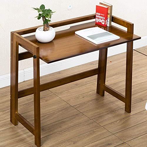 LUO Lazy Table - Mesa plegable de bambú para escritorio, escritorio, oficina, mesa de comedor, ahorra espacio, 105 cm