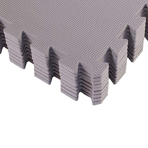 BodenMax CRS804902-3030-18 Puzzlematten spielmatte 30 x 30 cm grau