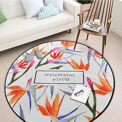 WmmoY-carpet Teppich Runder Teppich Schlafzimmer Wohnzimmer Sofa Couchtisch Otto Erde Matte Yoga Matte Runde Decke Teppich -120 * 120cm_ # 4
