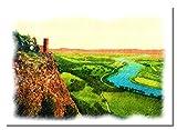 Tay Valley von Kinnoull Hill Zeichnung A3 ungerahmt