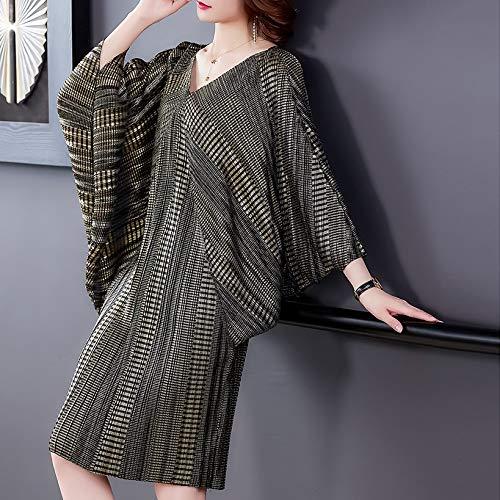 Dress Slimming Dress Noble And Elegant Plus Size Cover Belly Slimming Dress YangJinShan (Color : Black, Size : Free Size)