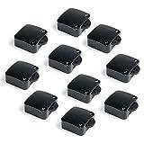 Emuca - Interruptor de contacto para puerta de mueble 2 posiciones ON-OFF, Negro, Set de 10 piezas