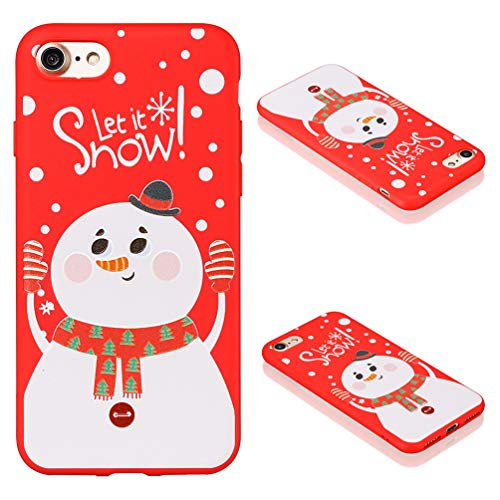 Christmas Case for iPhone 7, iPhone 8, TPU Cover Silicone Clear Rubber Thin Flexible Kawaii Shockproof Personalised Bumper Protective Shell - Pattern 1