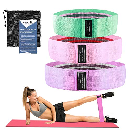 Señoras Yoga Pilates Stretch Band, Hermosa Butt Fitness Resistencia Band Elastic Loop Home Outdoor Fitness Squat Band Banda elástica