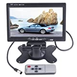BW 7 inch HD 800 * 480 TFT Color LCD Car Monitor Car Rear View Camera Headrest Monitor DVD VCR Remote Control Monitor Support Rotating the Screen and 2 AV Input