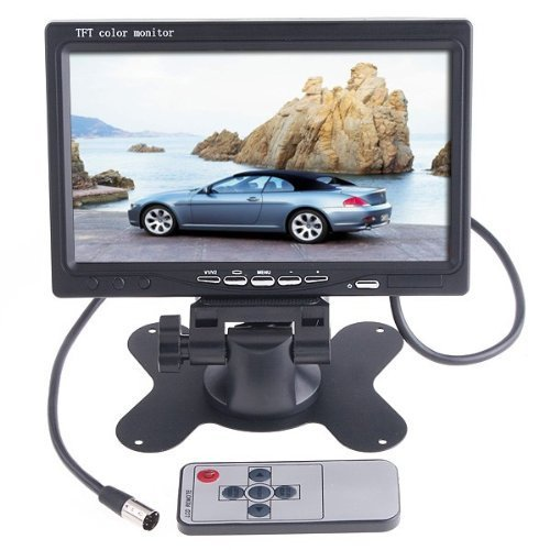 KKmoon 7 Inches TFT Color LCD Car Rear View Camera Monitor Support Rotating The Screen and 2 AV Inputs