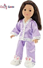 18 Inch Doll Embroidered Lavender Easter Pajama PJ Set   Fits 18
