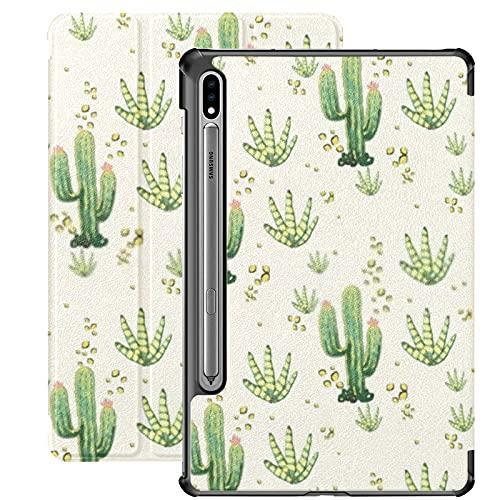 Funda para Galaxy Tab S7 Funda Delgada y Ligera con Soporte para Tableta Samsung Galaxy Tab S7 de 11 Pulgadas Sm-t870 Sm-t875 Sm-t878 2020 Release,Cactus Desert