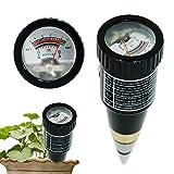 MNNE Soil PH Tester di umidità di PH Pen termometro per Giardino Prato Farm Piano Test Plant di Cura di 2 in 1 Alta Sensibilità Lega Soil Tester