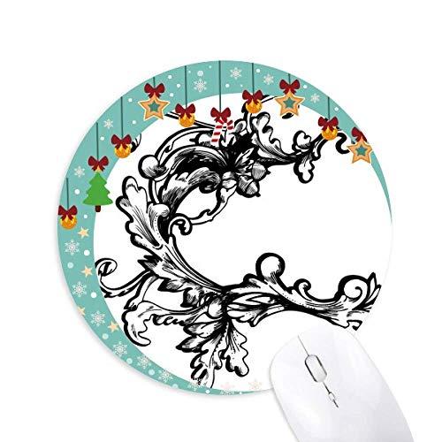 Barock Dekoration Blume Modernes Muster Maus Pad Jingling Bell Round Rubber Mat