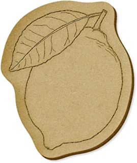 6 x 'Lemon' MDF Craft Embellishments (EB00022907)