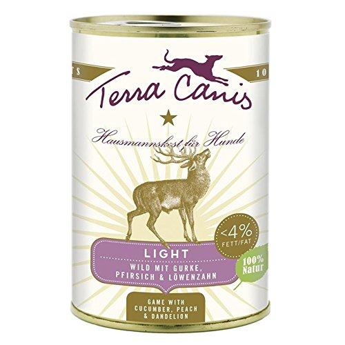 Terra Canis Wild light | 12x 400 g kalorienreduziertes Hundefutter