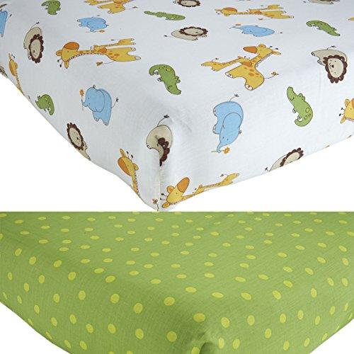 Fisher Price Luv U Zoo Crib Sheets, Set of 2