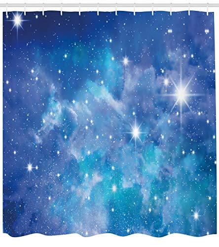 taquxinlaowan Space Duschvorhang Planet Star Clusters Print für Badezimmer