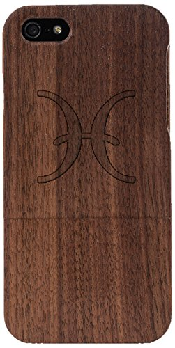 Woodero Fish Zodiac Real Wood Case for Apple iPhone 5/5S