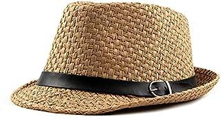 Wxcgbnstym قبعة الشمس، ربيع الصيف سترو قبعة الأزياء غير مقسمة الشمس تنفس الرجال النساء فيدوراس خارج قناع كاب (اللون: كاكي)