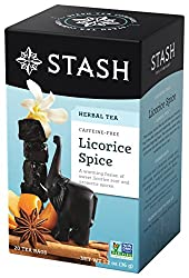 Stash Tea Licorice Spice Herbal Tea, 20 Count Tea Bags in Foil (Pack of 6)