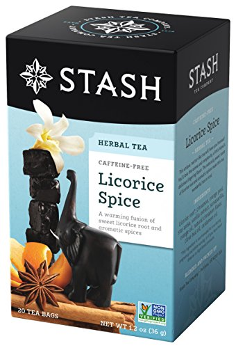 Stash Tea Licorice Spice Herbal Tea 20 Count Tea Bags in Foil (Pack of 6), Tea Bags Individually Wrapped in Foil (packaging may vary), Naturally Sweet Herbal Tisane, Zero Caffeine, Drink Hot or Iced