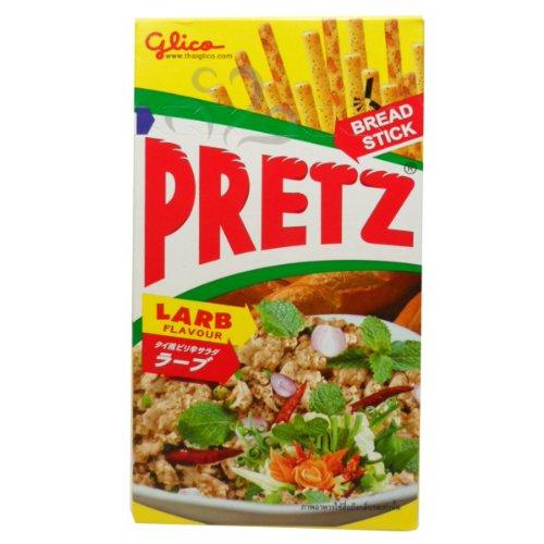 Glico Pretz Bread Stick Larb Flavour 38g (1.34 Oz) X 5 Boxes