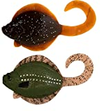 4' Sanddab Lingcod Jigs Rig Fishing Lure Sand Dab Fish for Halibut Rock Grouper Cod (4' Natural, Sole 2/PK)
