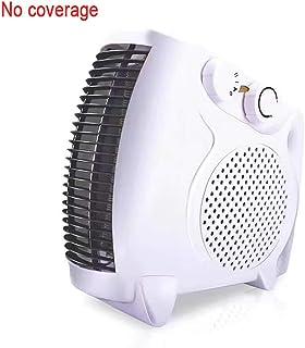 QHQH Calefactor Eléctrico, 2 Niveles de Temperatura, función Ventilador (Vertical y Horizontal) Calefactor 900-1800W con termostato Regulable para Hogar Oficina, Blanco