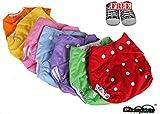 Paños lavables Pocket 2 unidades + 2 insertos + regalo zapatos neón