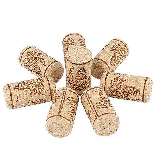 Delaman Tappo per Vino 22 * 44mm Supporto per Vino Naturale in Sughero Diritto, Tappo per Bottiglia di Vino in Legno (Size : 100 PCS)