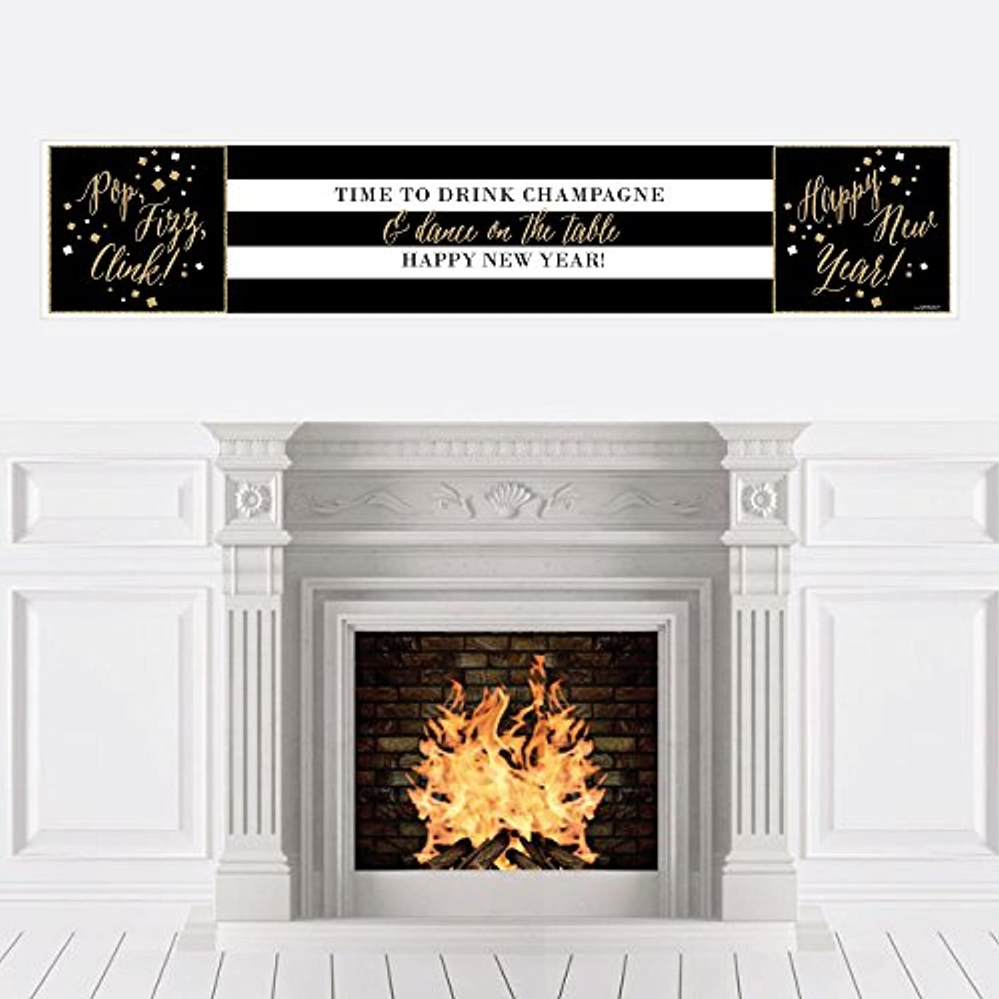 New Year's Eve - Gold New Years Eve Party Decorations Party Banner