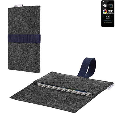flat.design vegane Handy Hülle Aveiro für Allview A9 Lite passgenaue Filz Tasche Case Sleeve Made in Germany