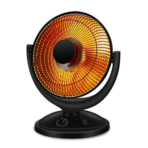 Kismile Oscillating Parabolic Space Heater with Thermostat and Timer