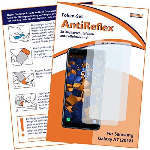 mumbi Schutzfolie kompatibel mit Samsung Galaxy A7 2018 Folie matt, Bildschirmschutzfolie (2X)
