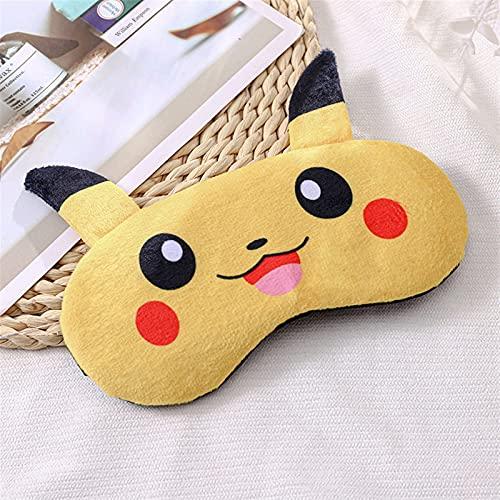 Huan Huan Schlafmaske Augenmaske Abdeckung Schlaf Nacht Maske Relax Nickerchen Augenmaske (Farbe: Pikachu)