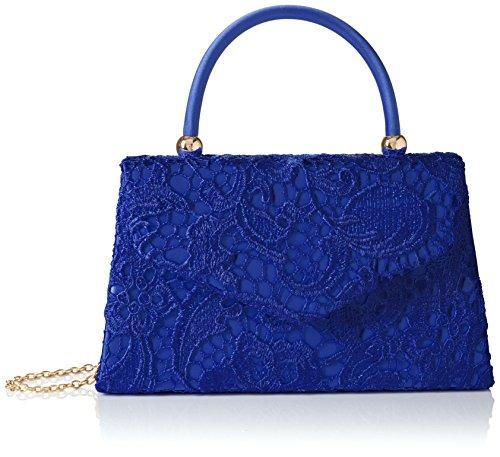 SwankySwans Embrague elegante elegante de encaje para mujer, Azul (Royal Blue), Talla única