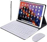Tablet 10 Pulgadas Android 9.0, 2 en 1 Tablets PC 4G/WiFi, 4GB RAM+64GB ROM/128GB (Oficina/Ocio Ordenador portátil) Quad-Core 8500mAh Dual SIM Bluetooth/GPS/OTG Tablets de función de Llamada (Rosado)